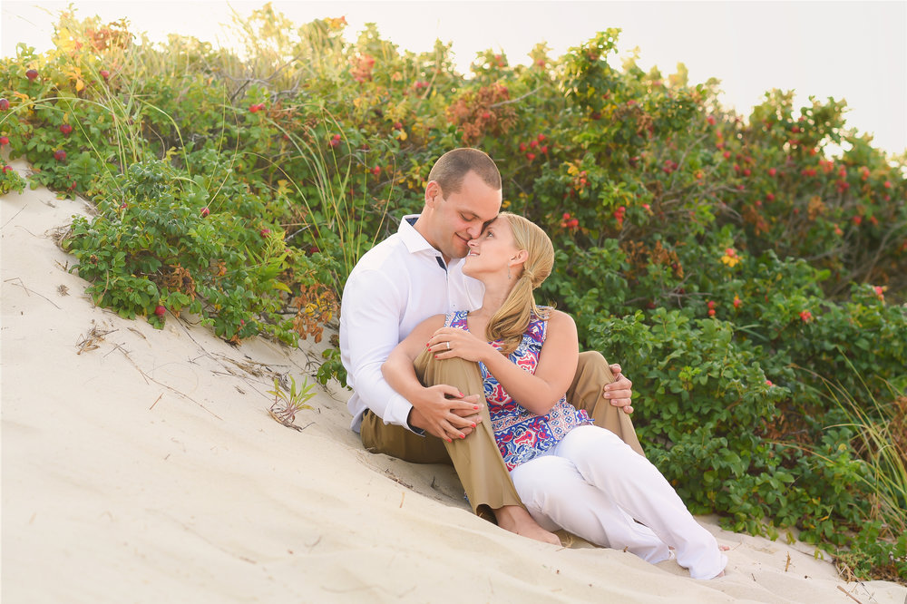 Nantucket Engagement in Dunes