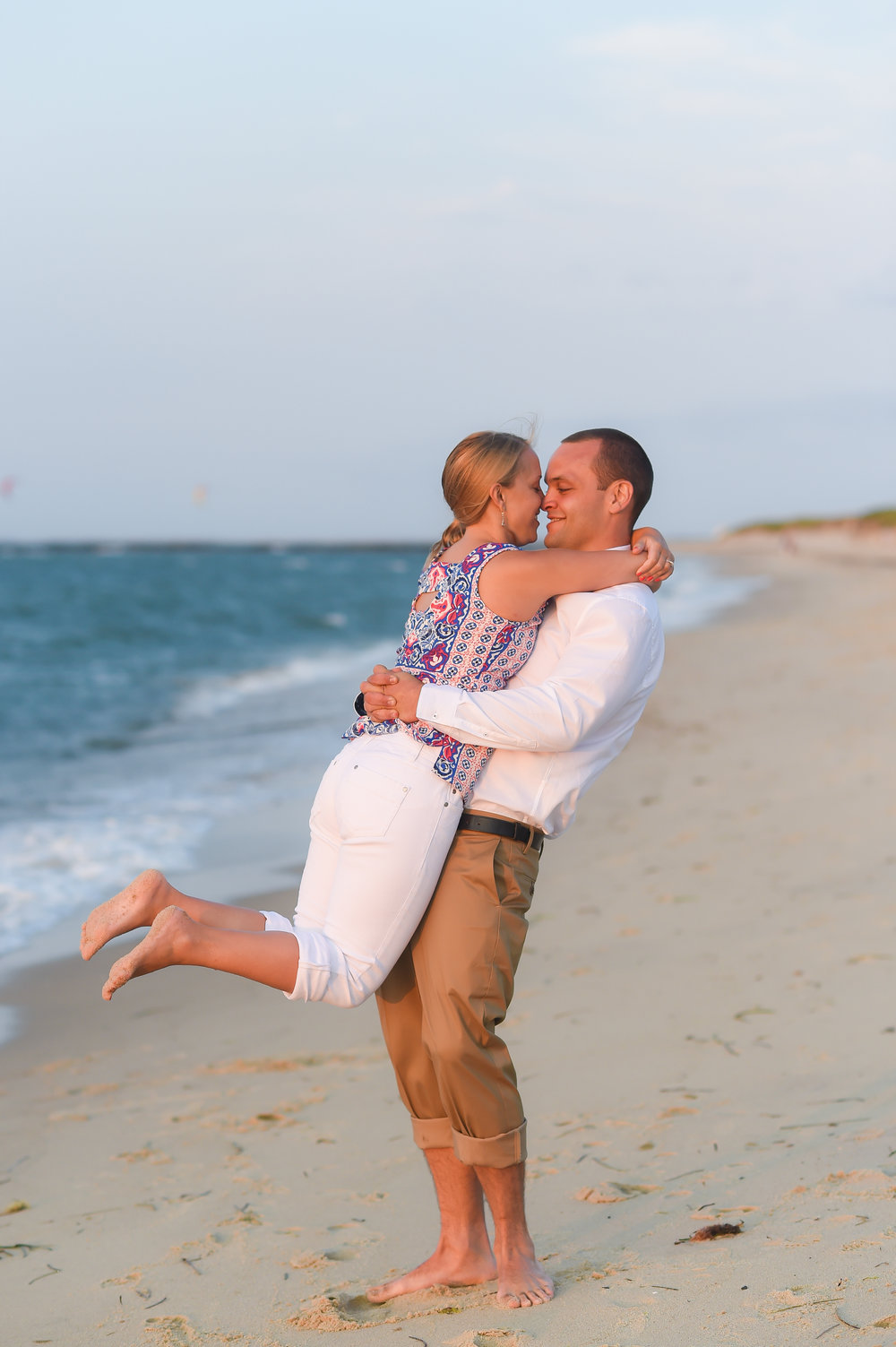 Nantucket Engagement at Steps Beach