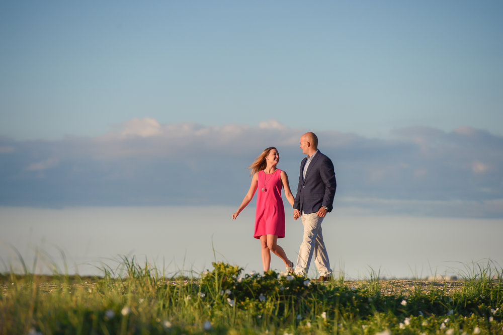 Nantucket Engagement at Brant Point