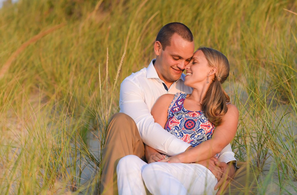 Nantucket Engagement at Beach