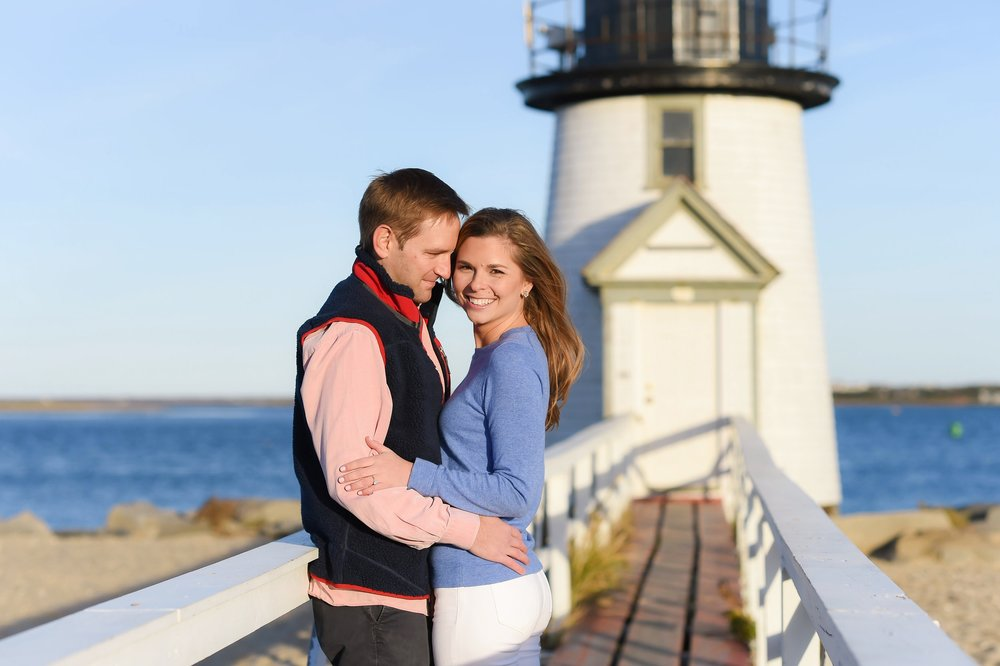 Nantucket Engagement Photos at Brant Point
