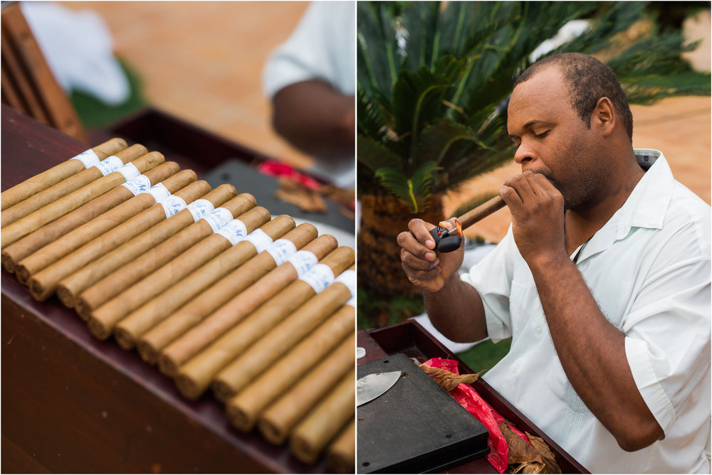 Punta Cana Destination Wedding Cigar Roller
