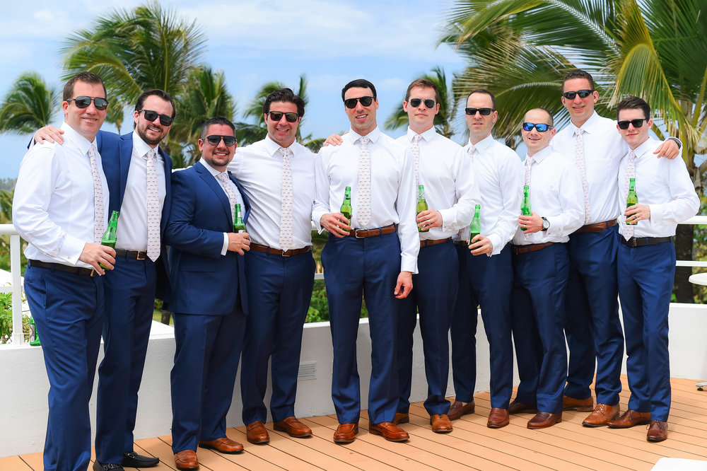 Punta Cana Destination Wedding Groomsmen