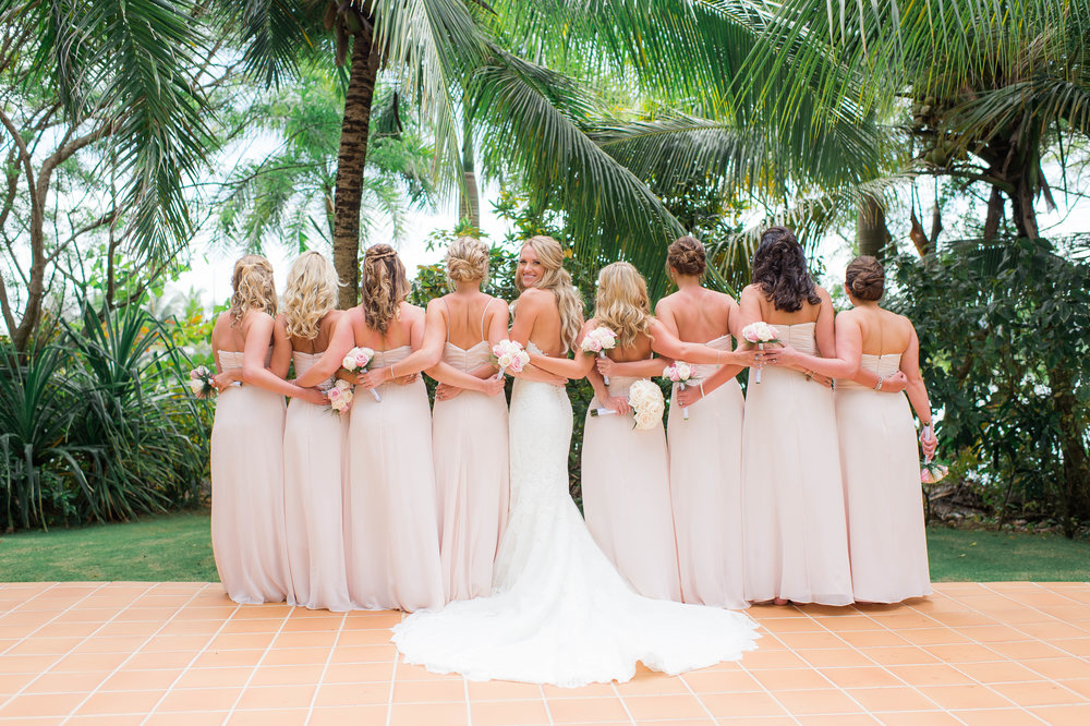 Punta Cana Destination Wedding Bridal Party