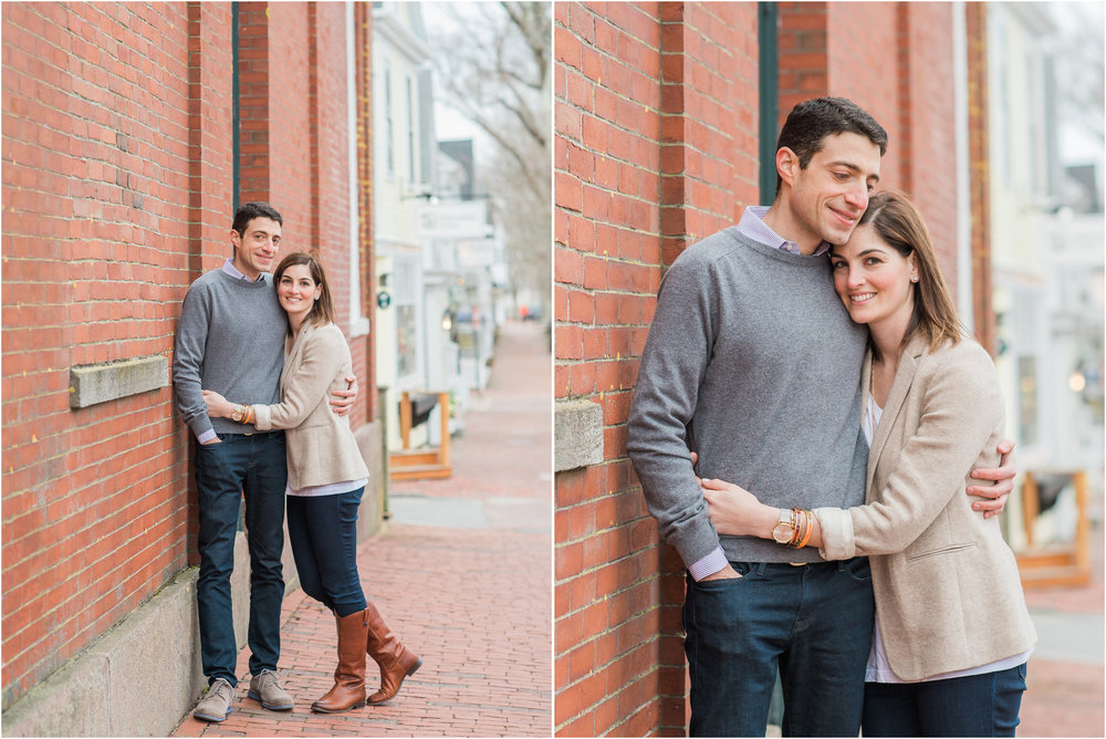 Nantucket Engagement Photos Downtown