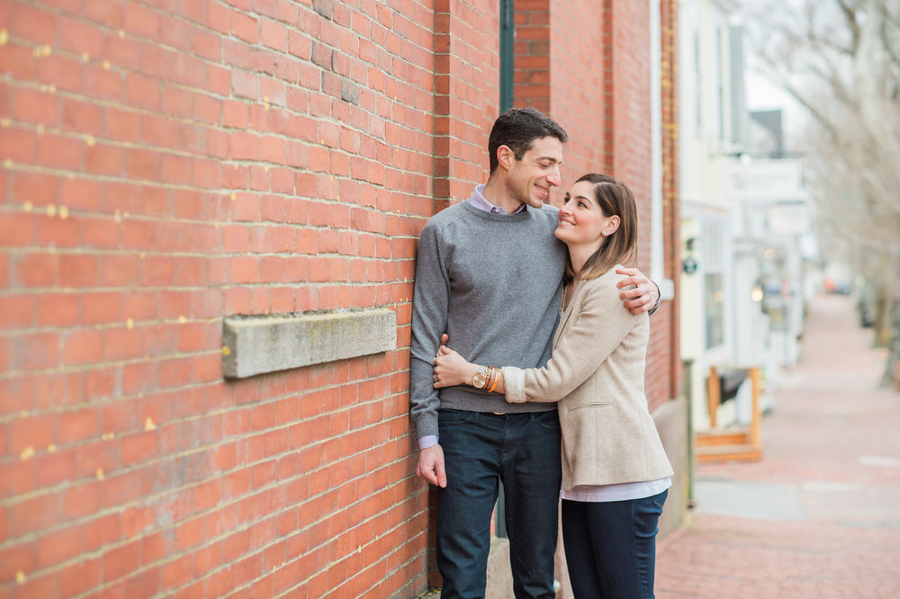 Nantucket Engagement Photos Main Street