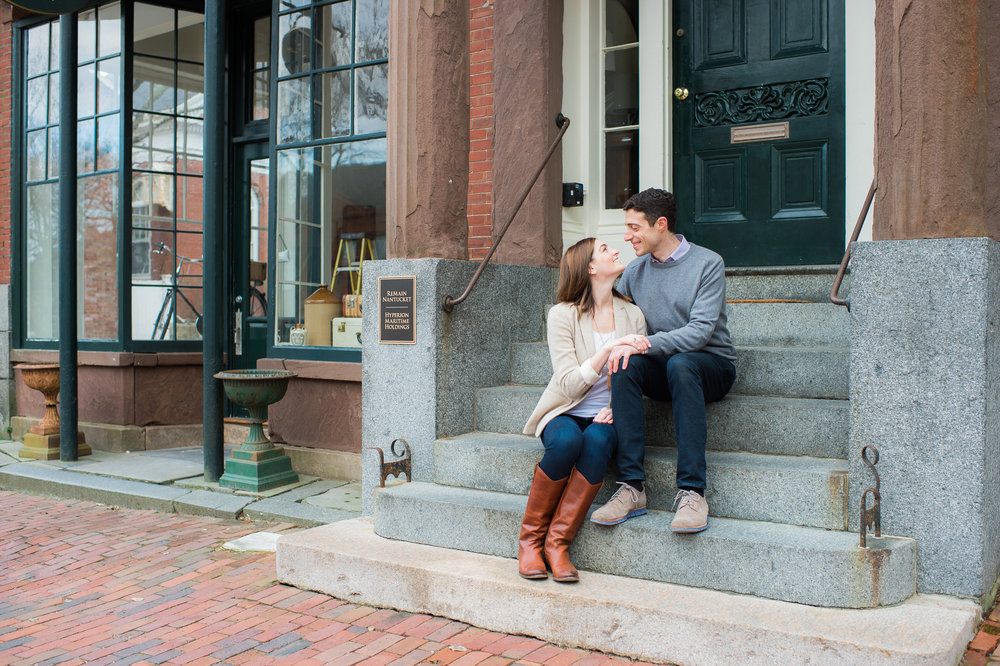 Nantucket Engagement Downtown