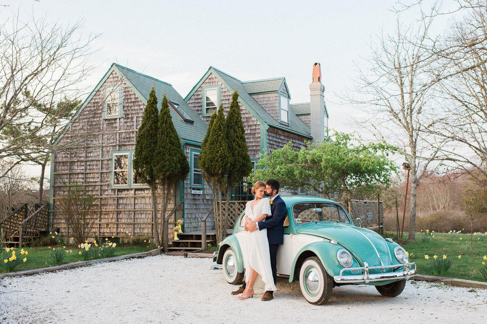 Nantucket Wedding Photos VW Bug