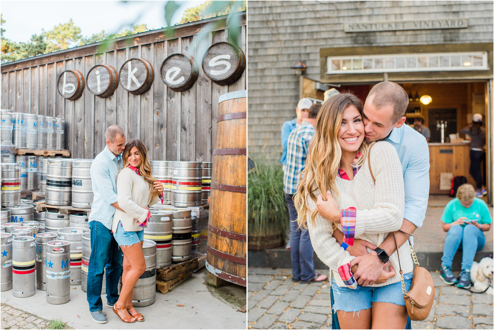 Nantucket Engagement Photos at Cisco Brewery