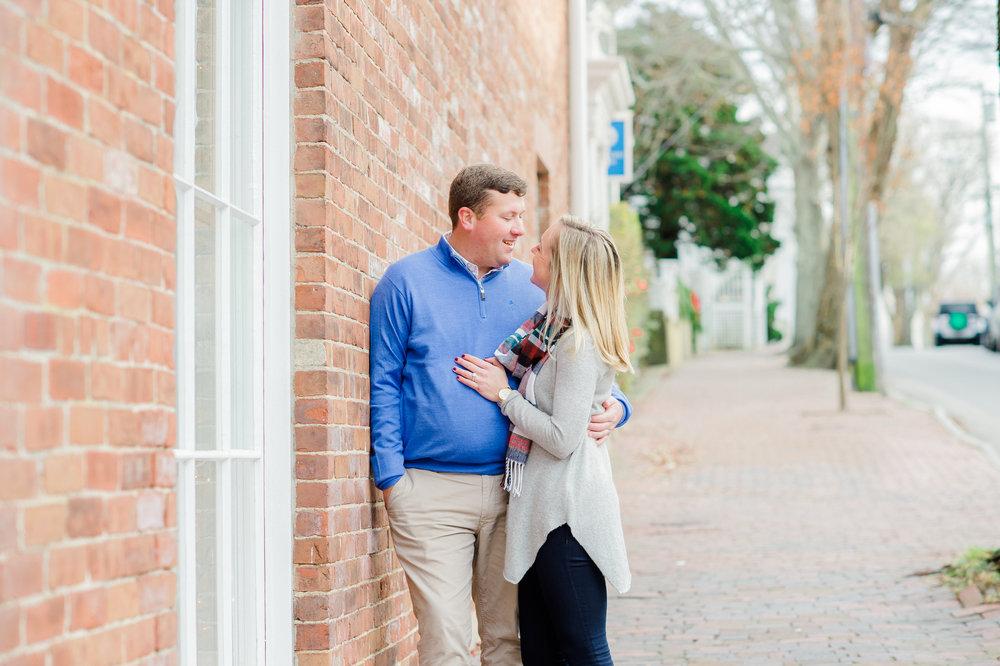 Frank & Grace's Nantucket Engagement Photos Main Street