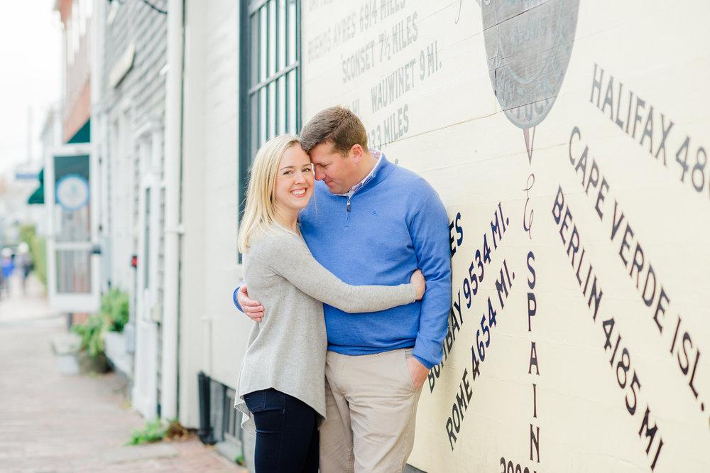 Frank & Grace's Nantucket Engagement Photos Compass Rose