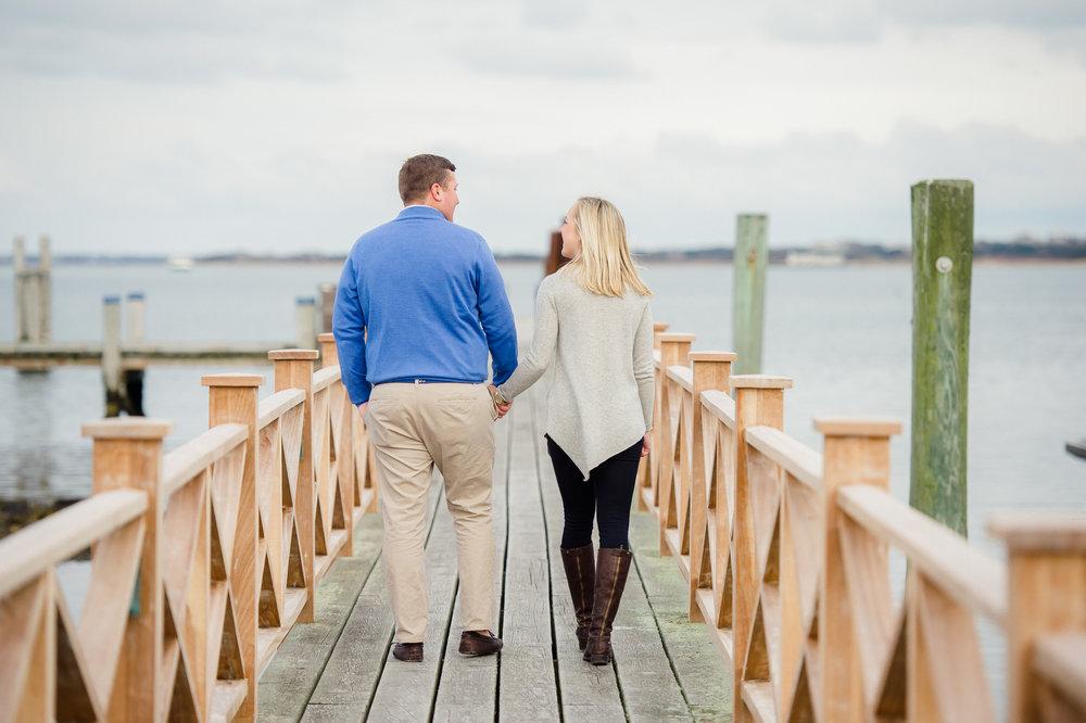 Frank & Grace's Nantucket Engagement Photos Docks