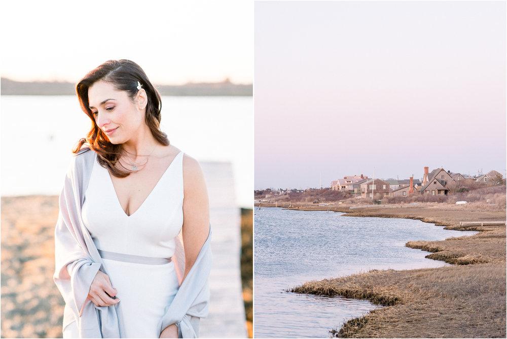 Kim and Anthony's Nantucket Backyard Wedding Docks