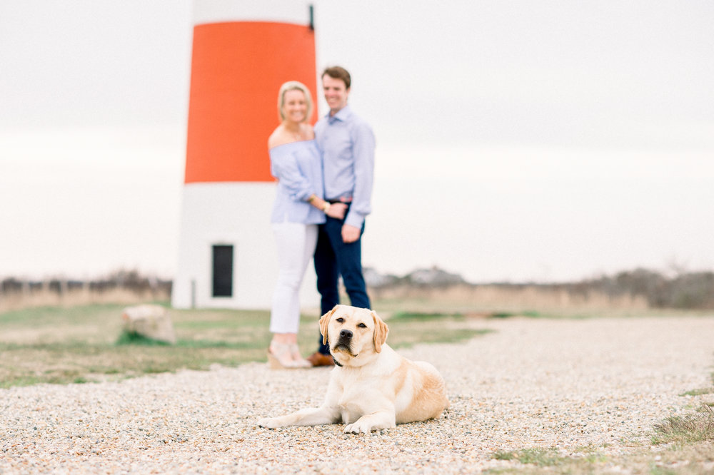 Jamie & Will's Nantucket Engagement Sankaty Lighthouse