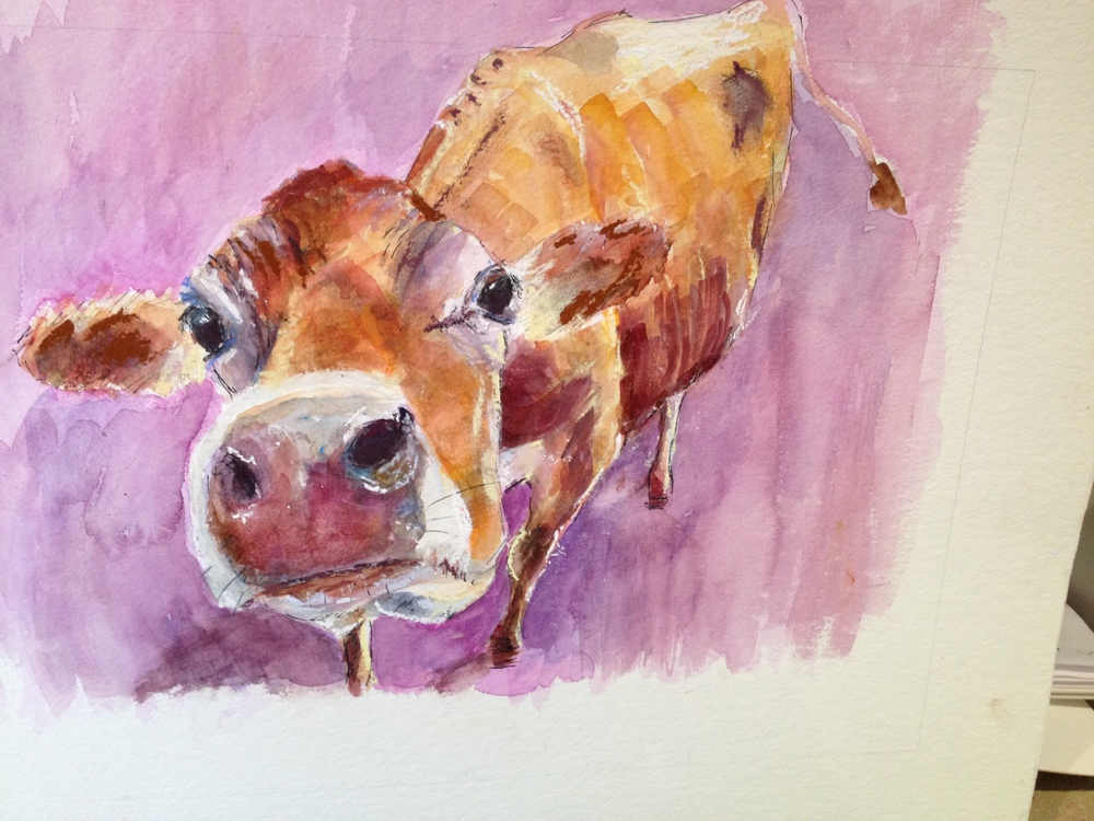 Almost finished 'lilac cow'