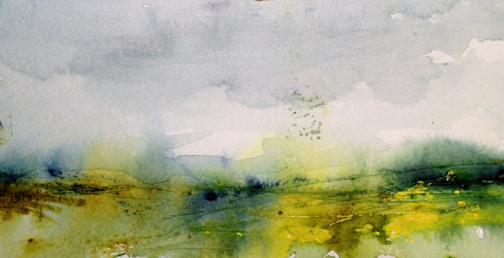 Abstract landscape inspired by Ilkley Moor