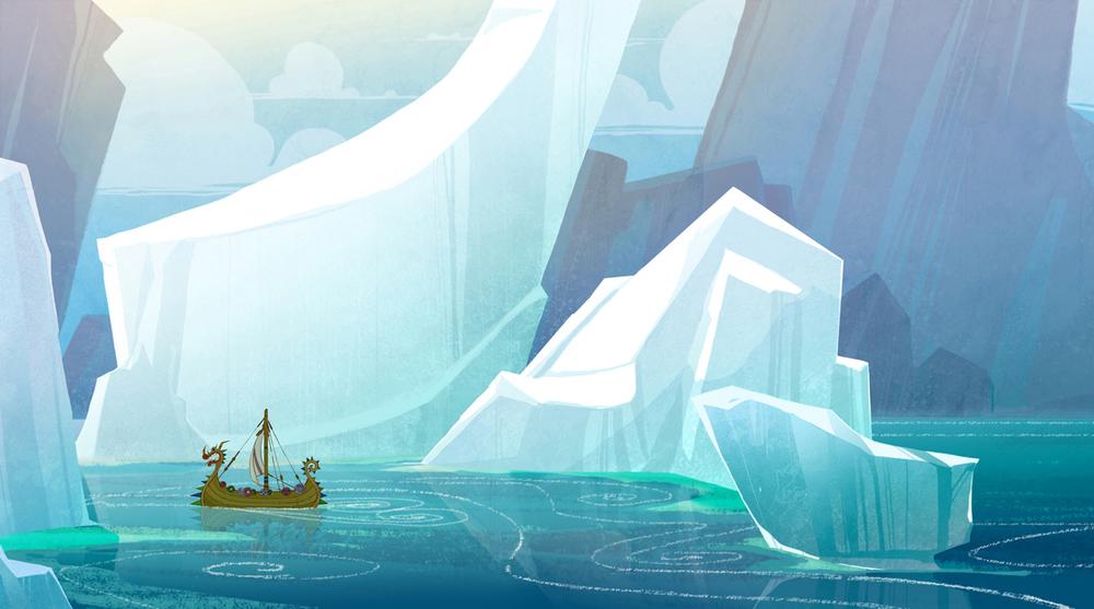 Background Design Legend of the Boneknapper (2010) © Dreamworks Animation