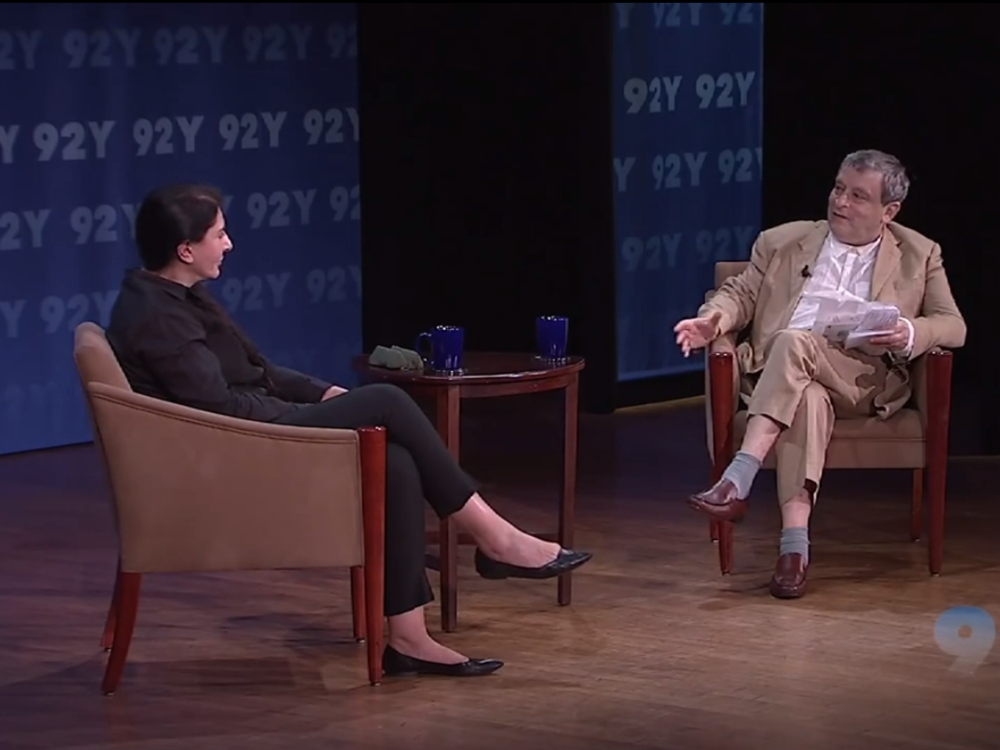 June 26th, 2013 Marina Abramovic with Sir Norman Rosenthal at the 92nd St. Y in New York City