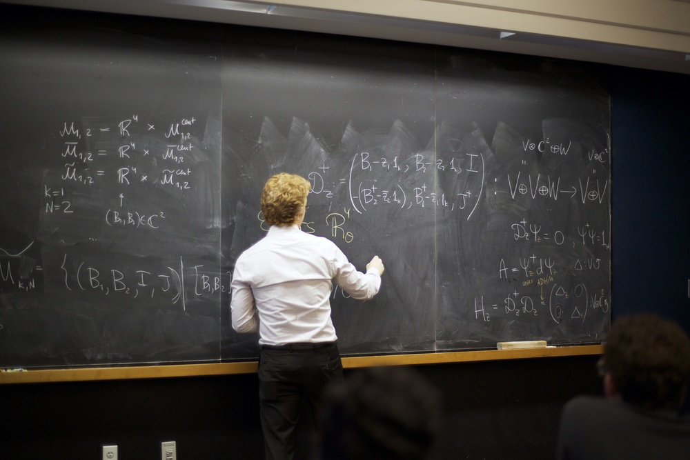 Nikita Nekrasov Lectures at The Simons Center for Geometry and Physics at Stony Brook University Photo by Maria Sprowls