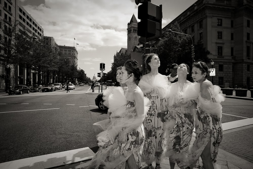 Vangeline Theater performing BUTOH BLOSSOMS at the Cherry Blossom Festival in Washington DC (2010)  Photograph by Yassine El Mansouri