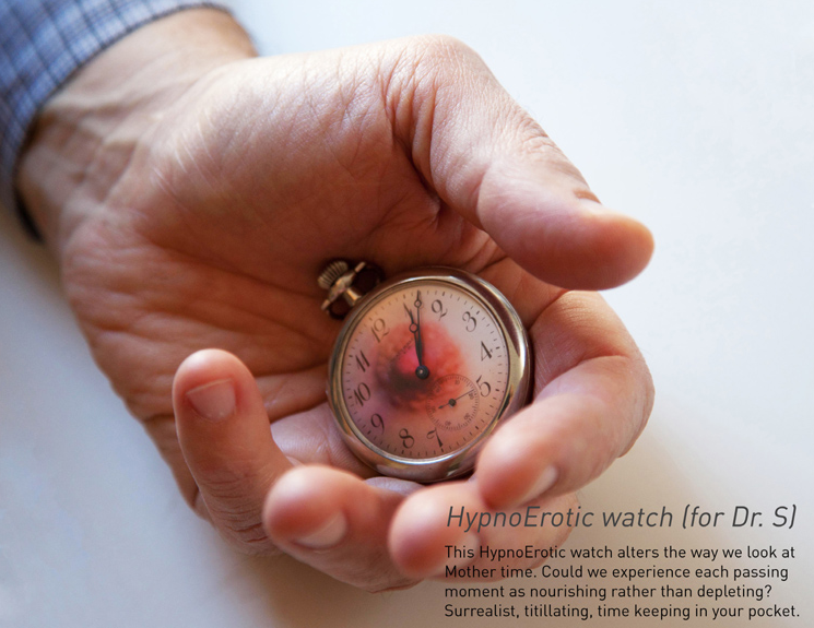 """HypnoErotic watch (for Dr. S)"" (2013), Ana Prvacki. Production and design by Anna Hermann.   Photograph by Jessie Chaney"
