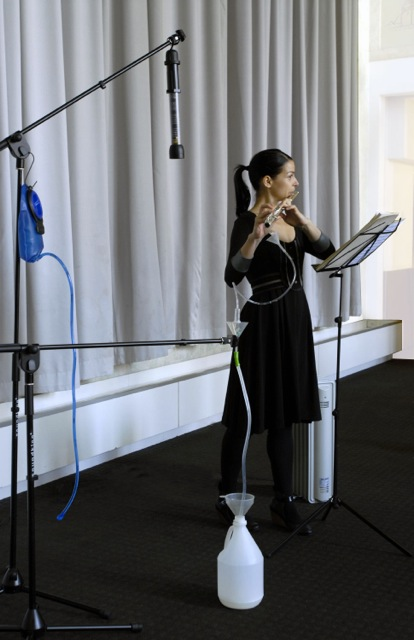 """Music Derived Pain Killer"" (2008), Ana Prvacki. Performance still, MCA Sydney Biennial, Curated by Carolyn Christov Bakargiev. Photograph by Ben Symons"