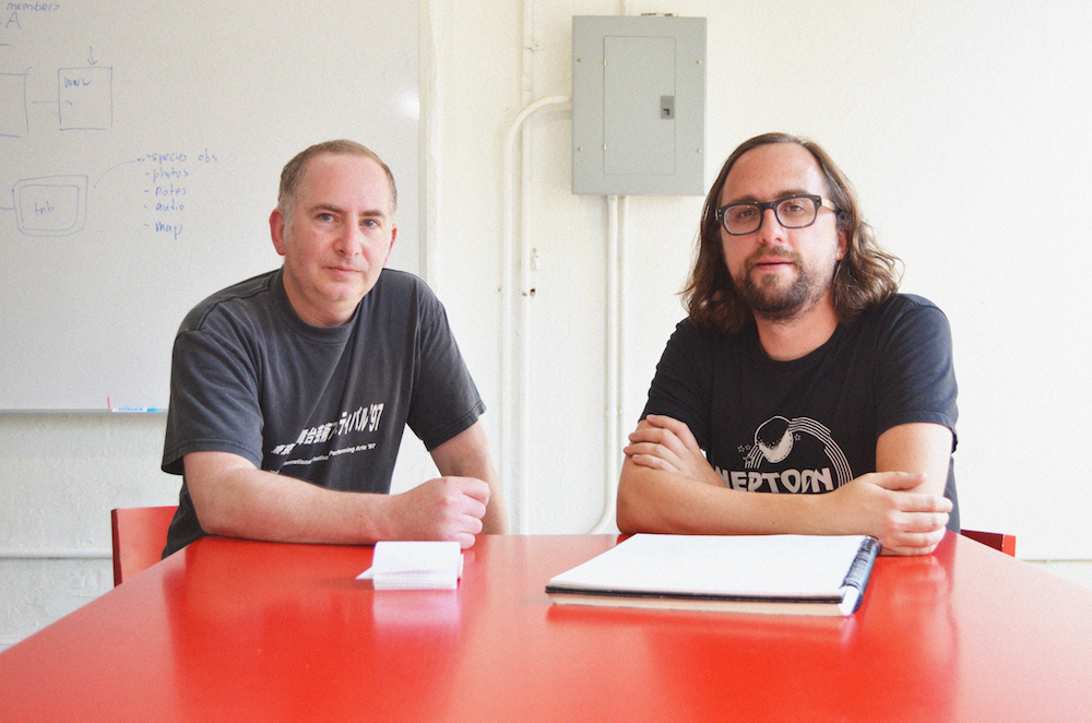 Ben Rubin and Jer Thorp at The Office for Creative Research. Photograph by Karina Vahitova