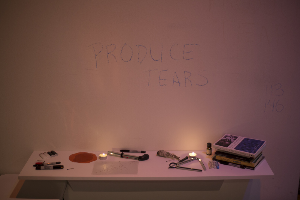 "Some of the objects used by taisha paggett during her performance ""Underwaters (we is ready, we is ready) at the Whitney Biennale in New York City in 2014. Photograph by Ashley Hunt"