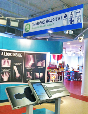 Handsome signs integrated into the design of the exhibits recognize supporting donors.