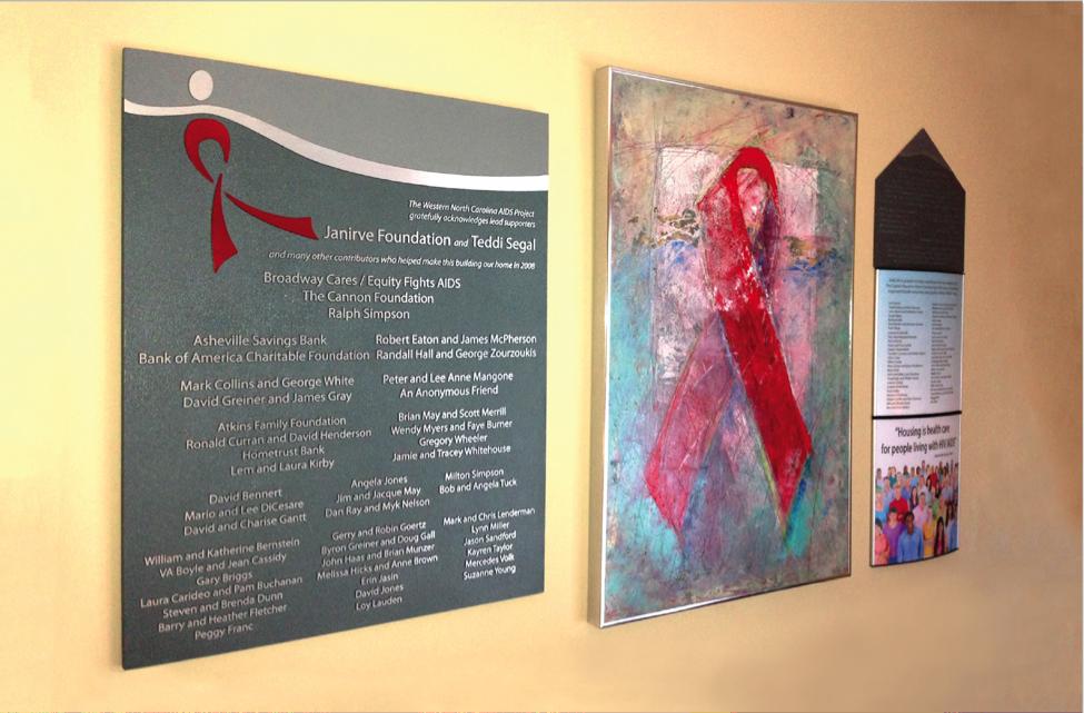 WNCAP, Leah Karpen Donor Recognition Wall