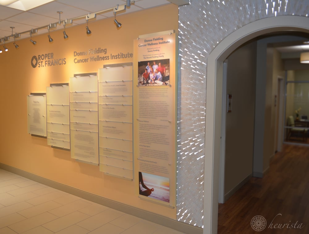 Donor Recognition Wall, Roper St. Francis: Donna Fielding Cancer Wellness Institute