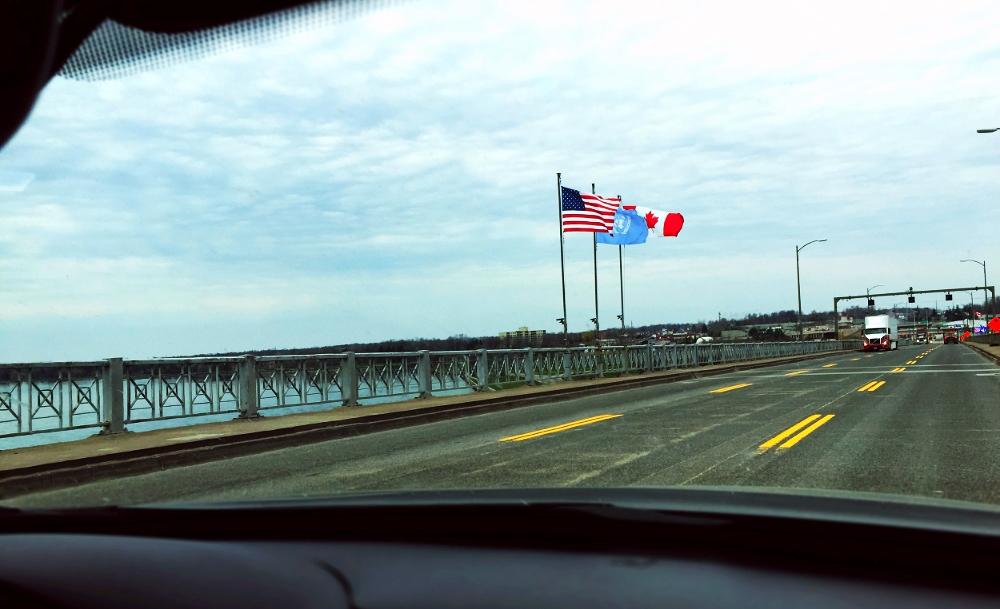 Crossing the Peace Bridge, Buffalo, NY