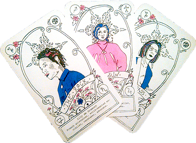 We even have our own custom tarot deck,being created by the brilliant Jessica LeMaster, for sale HERE!