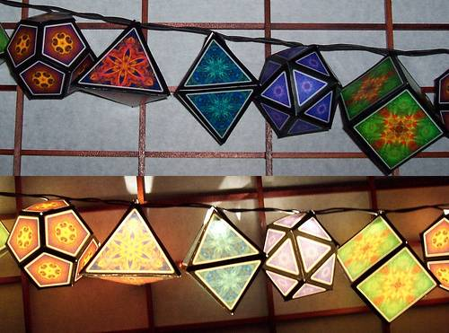 papercraft craft idea: lights!