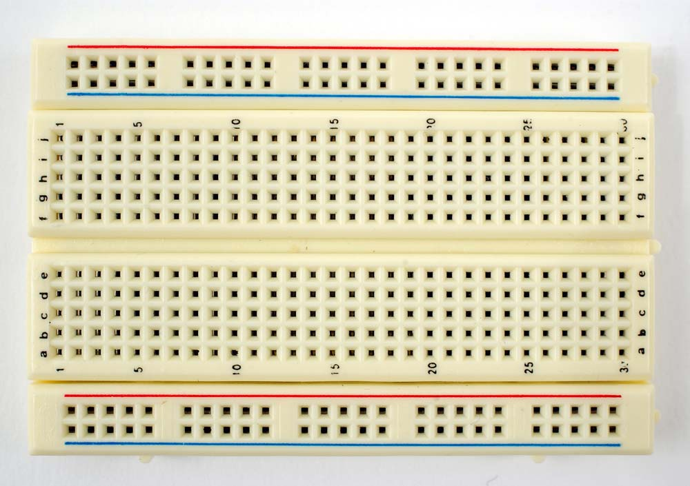A non-intelligent breadboard, courtesy of weebly.com