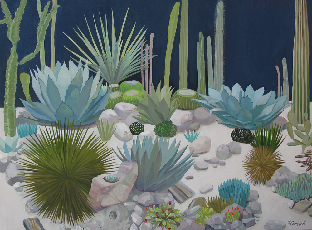 The Cactus Garden  oil on canvas, 30x40 sold