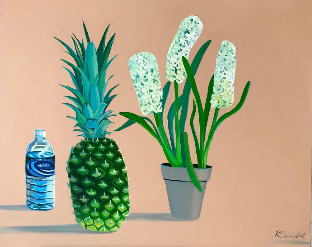 Love in the Form of Hyacinth and Pineapple, with Water.