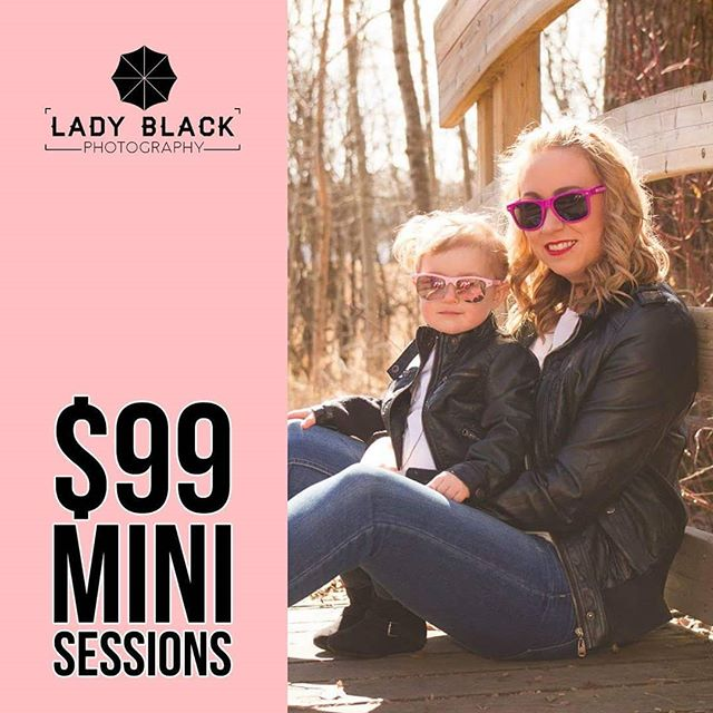 Only a few days left to take advantage of this special offer! Follow the link in our bio to book!  #ladyblackphotography #yeg #yegdeal #yegsale #yegoffer #minisessions #yegbusiness #yegbiz #yegger #yeglocal #yegphoto #yegphotographer #yegphotography #yegmoms #yegmom #edmonton #edmontonphotographer #photography #photographer #photo #follow