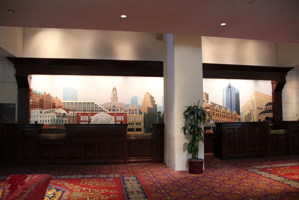 Front desk at Worthington Renaissance Hotel at 200 Main Street Fort Worth, Texas 76102