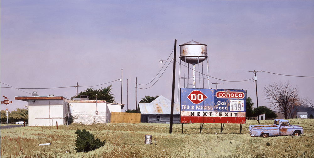 "Daniel Blagg, West Texas, 2007, oil on canvas, 48 x 80"". Private Collection, Fort Worth, TX."