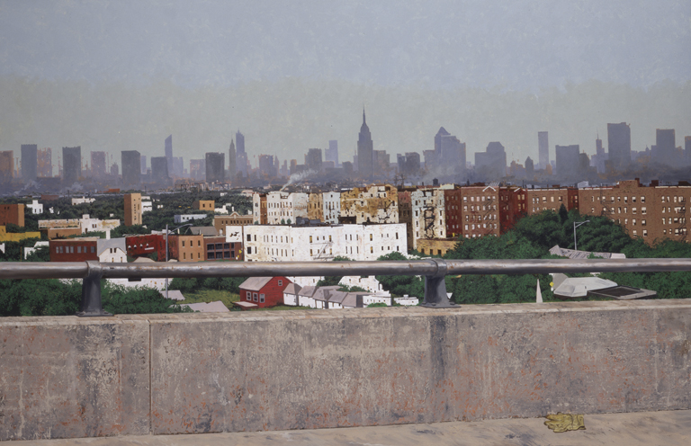 "Daniel Blagg, New York, 2005, oil on canvas, 60 x 90"". Private Collection, Dallas, TX."