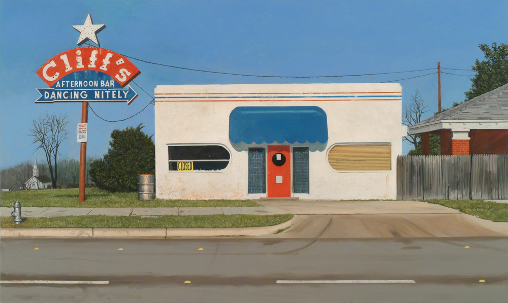 Daniel Blagg, Sunday Morning Sidewalk, 2009, oil on canvas. Private Collection, Dallas, TX.