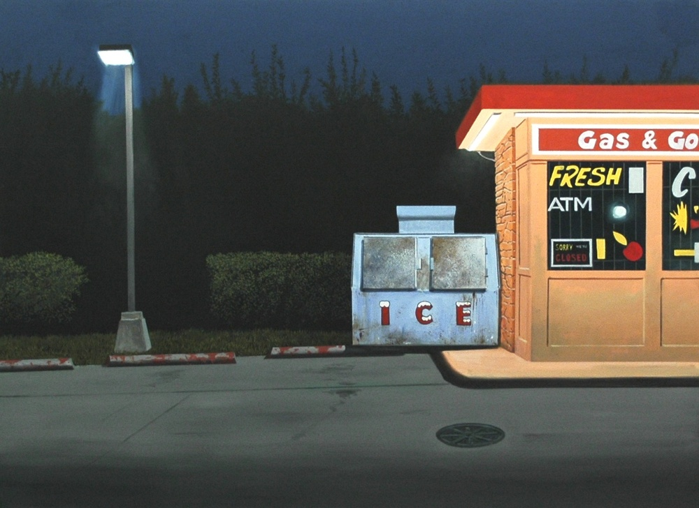 "Daniel Blagg, Gas & Go, 2013, oil on canvas, 38 x 52"". Private Collection, Dallas, TX."