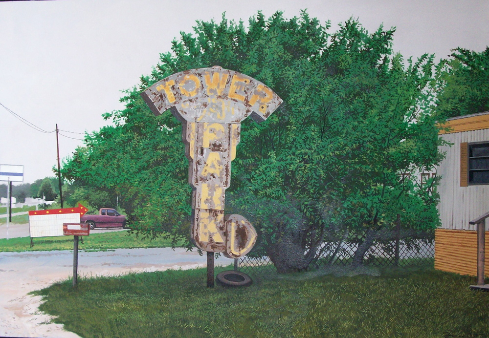 "Daniel Blagg, Tower Park, 2008, oil on canvas, 30 x 42"". Private Collection."