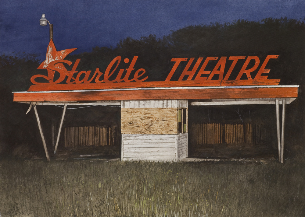 "Daniel Blagg,  Starlite , 2014, oil on canvas, 38 x 58"". Private Collection, San Antonio, TX."