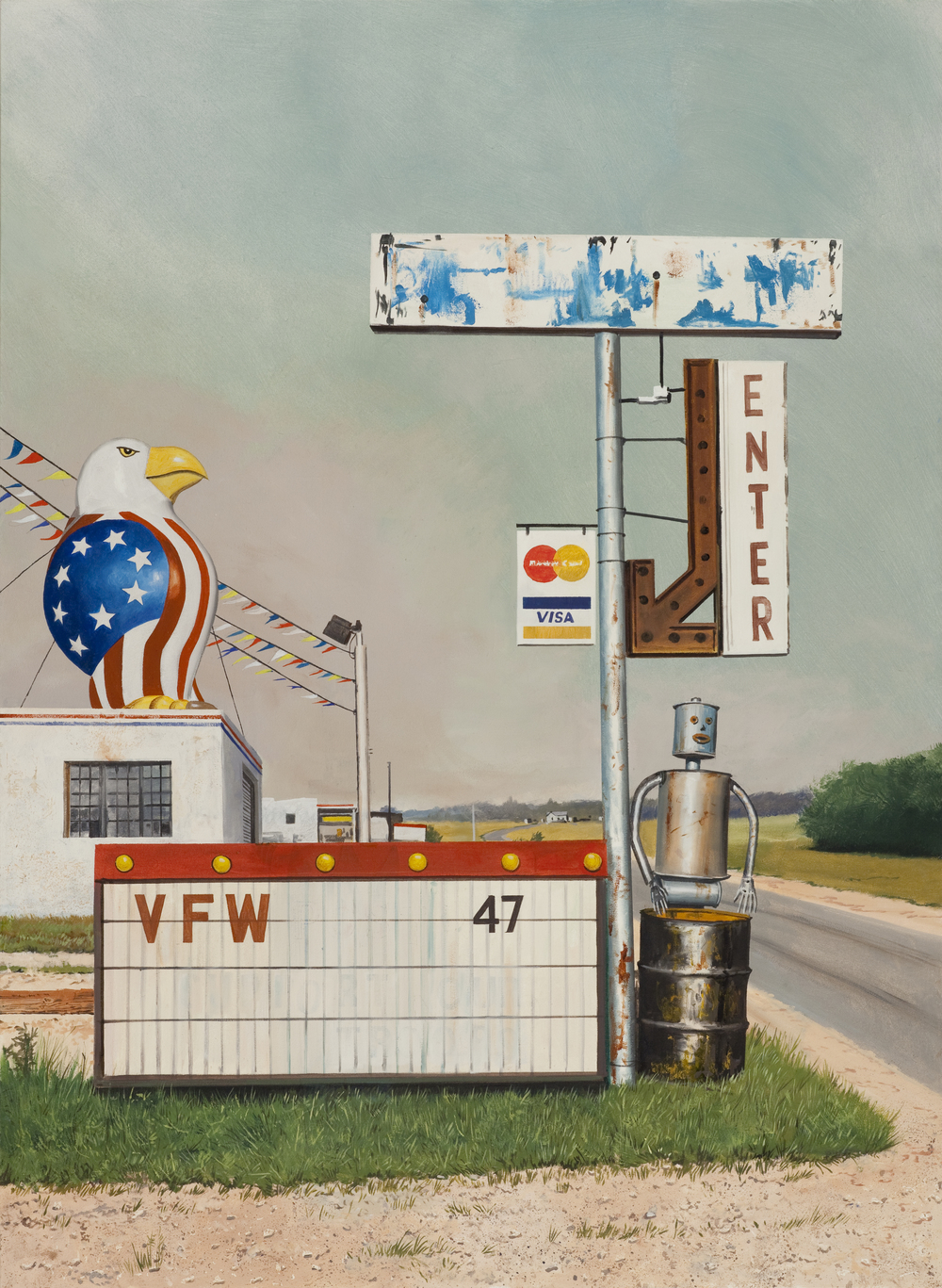 "Daniel Blagg,  Home of the Brave , 2015, oil on canvas, 52"" X 38"", SOLD."
