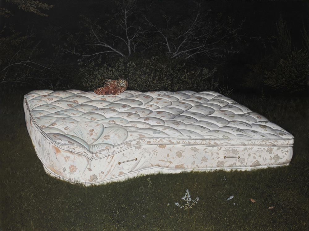 "Daniel Blagg,  The Sleep of Wisdom, 2015,  oil on canvas, 58 x 84"" SOLD."