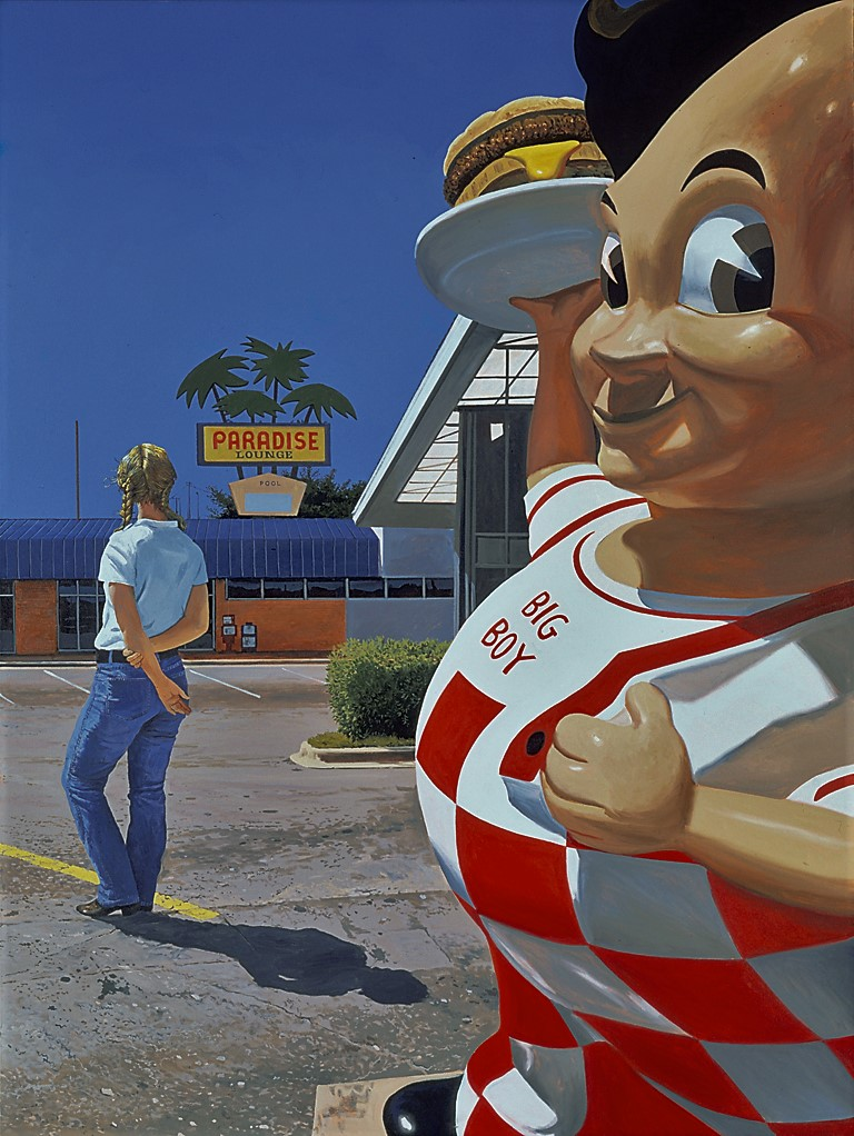 "Daniel Blagg, Big Boy, 2004, oil on canvas, 60 x 80"". Private Collection, Chicago, IL."