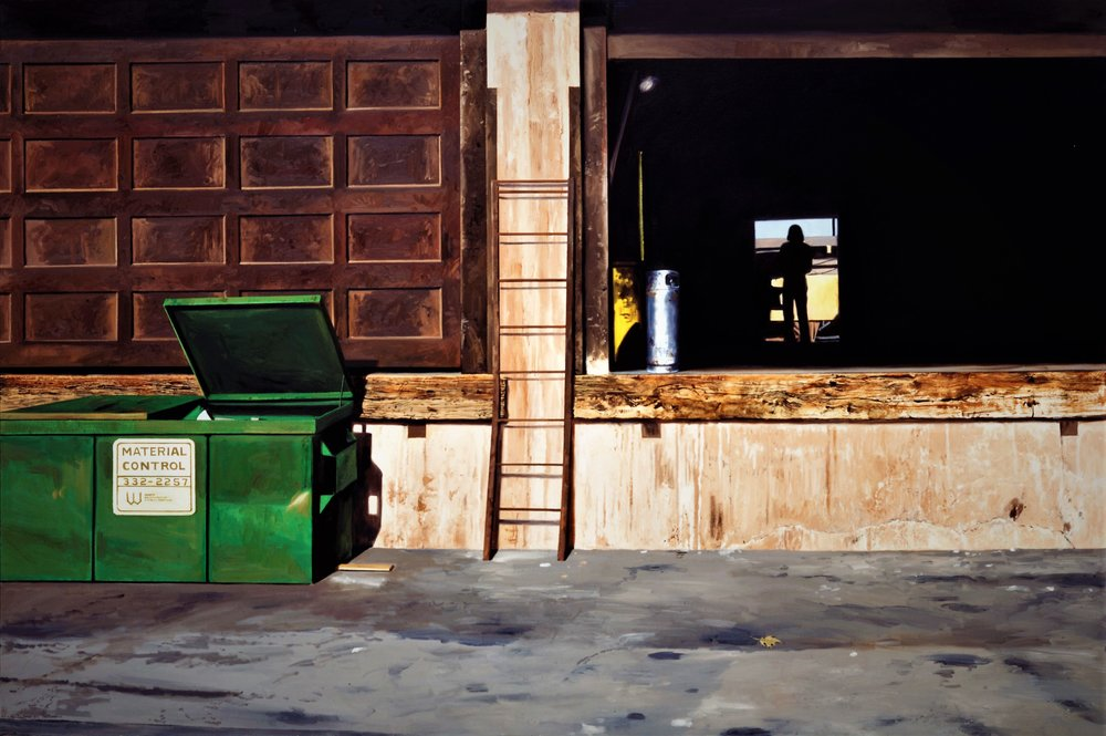 Daniel Blagg,  Industrial Situation , 1997, oil on canvas, 60 x 90""