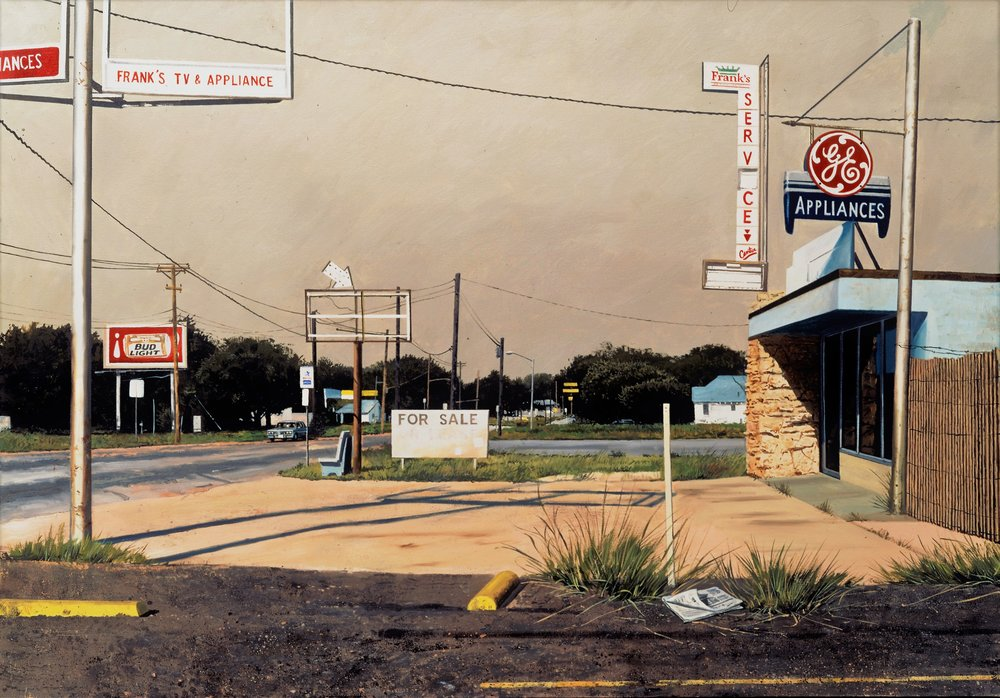 Daniel Blagg,  Franks , 1995, oil on canvas, 40 x 60""